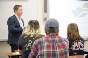 Dr. Daniel teaching a Political Science Classroom
