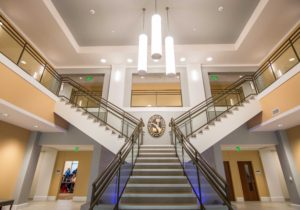 Main lobby of the Carter Center for Health Sciences