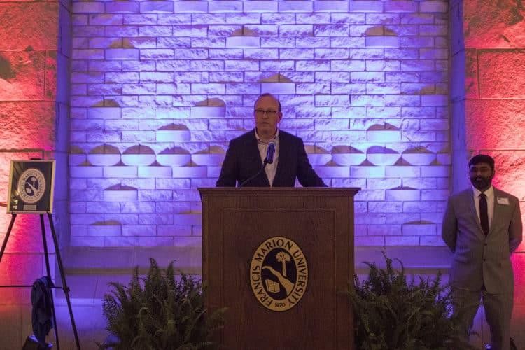 School of Business alumni speaking
