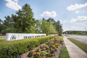 Francis Marion University sign at the main entrance