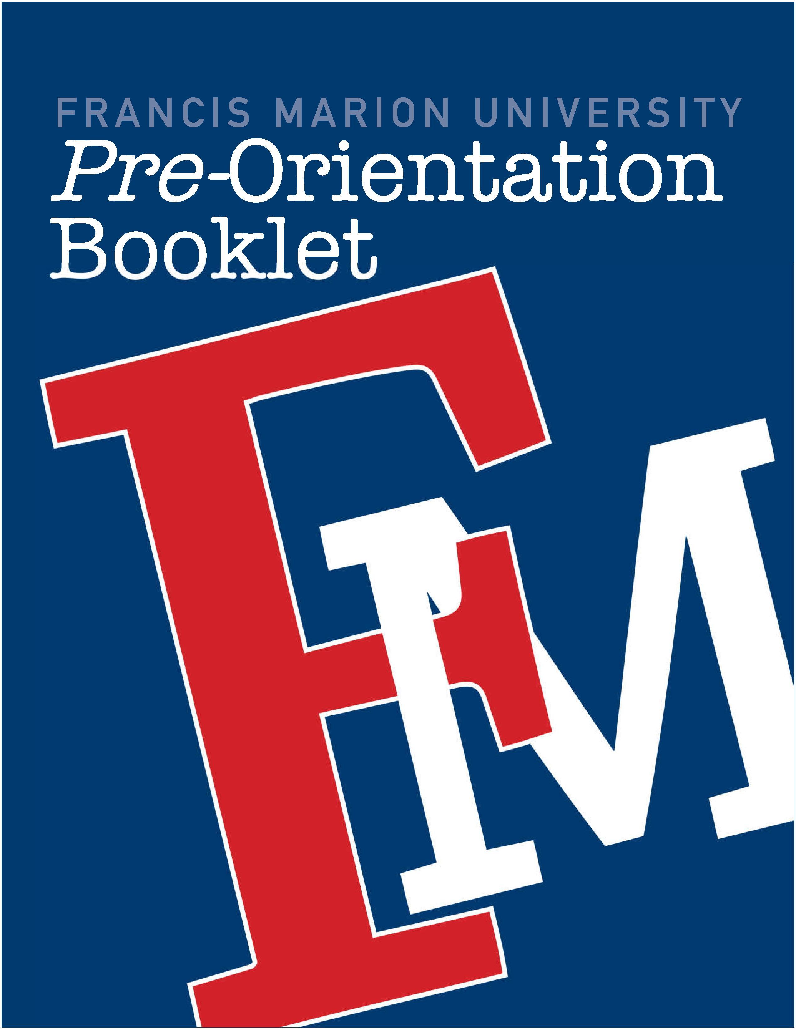 FMU Pre-Orientation Booklet cover
