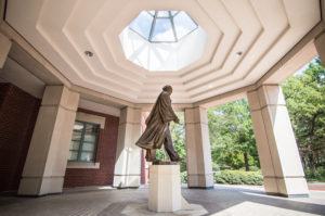 Smith Statue in Stoke's Administration Building