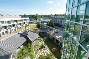 Part of UNBC's campus