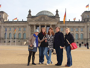Five people posing for a picture in Warters Germany