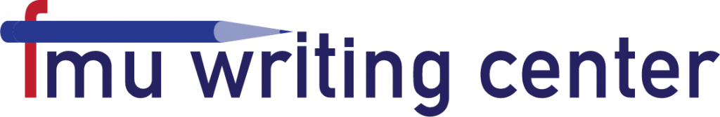 Red and Blue Writing Center Logo