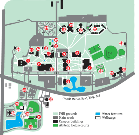 Franciscan University Campus Map.Physician Assistant Studies Francis Marion University