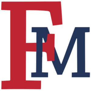 Large Red and Blue FMU Logo