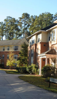 Front view of Berry Hall in Forrest Villas
