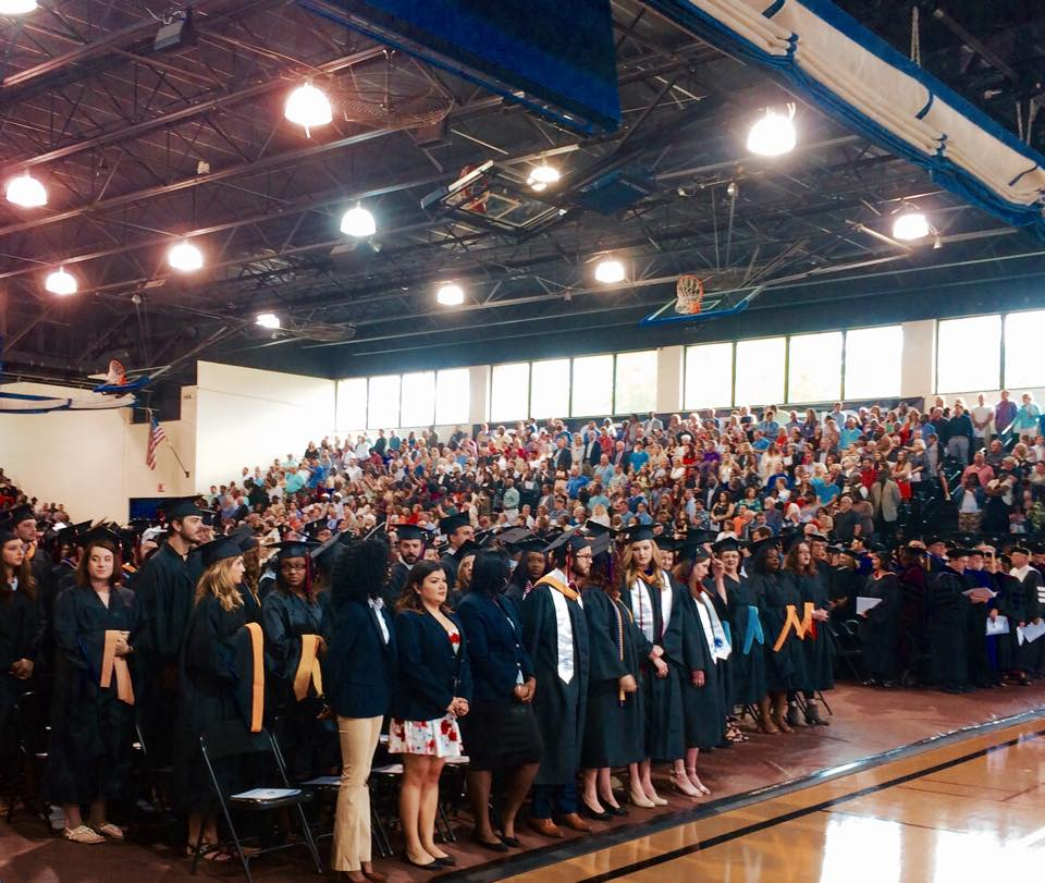 Students, staff and family at the Spring Graduation Commencement