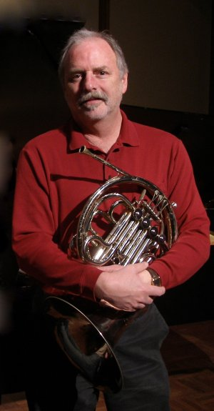 Dr. Roberts with French Horn