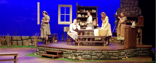 students performing in FMU theatre