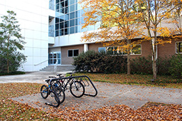 Leatherman Science Facility and bike rack