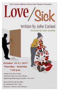 Fine Arts - University Theatre - John Cariani's Love/Sick - Glen Gourley, director @ Fine Arts Theatre, Hyman Fine Arts Center | Florence | South Carolina | United States
