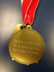Math Tournament medallion