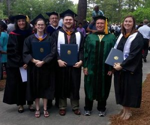 Math students at graduation in Spring 2017