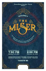 Fine Arts - University Theatre - Moliere's The Miser - Keith Best, director @ FMU Performing Arts Center | Florence | South Carolina | United States