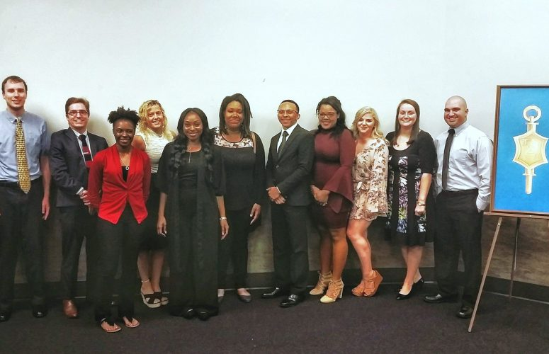 Inductees for the Political Science Honors Society