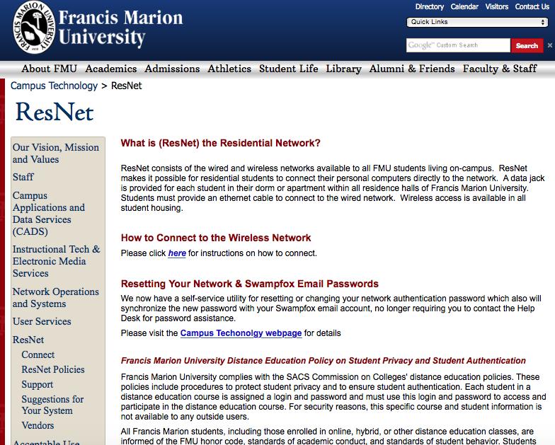 Webpage For Resnet