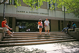 Entrance to Rogers Library