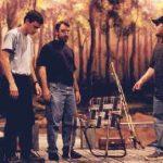 Three people on set for Catfish Moon