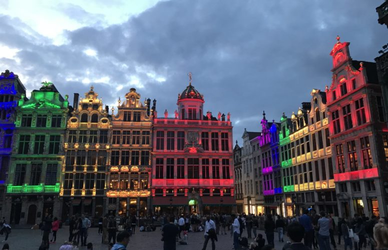 Colorful buildings in Brussels