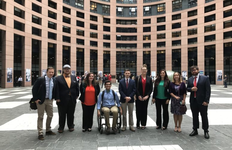 Students on the European Parliament Tour 2017