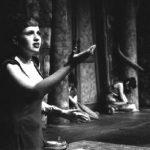 Actress performing Medea