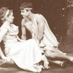 Man and woman on set of a Midsummer Night's Dream