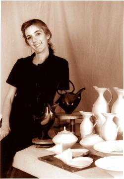 Photo of Susan Filley with artwork