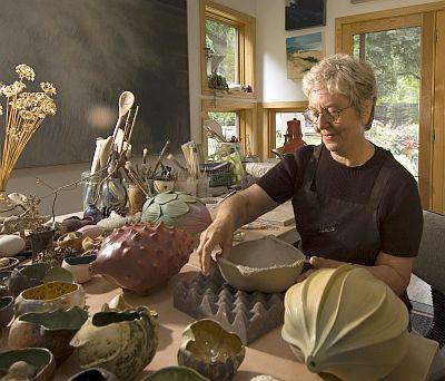 Photo of Alice Ballard sculpting