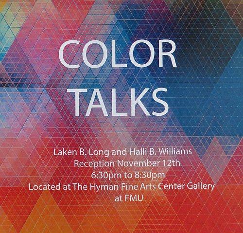 Color Talks by Long Williams Flier