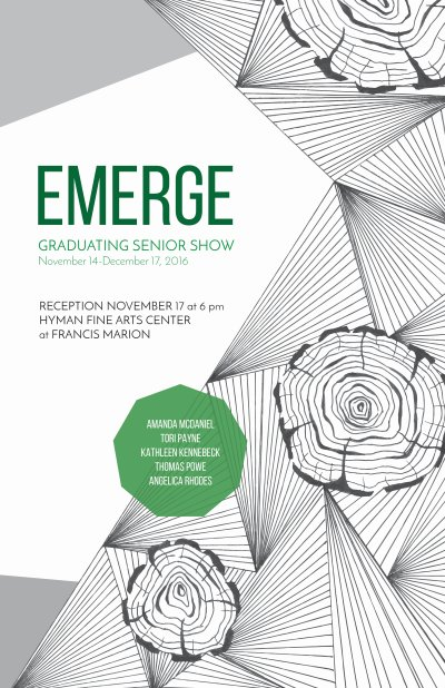 Emerge Graduating Senior Show flier