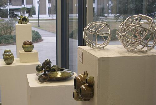 Ceramic Artwork by students in the Fine Arts Center