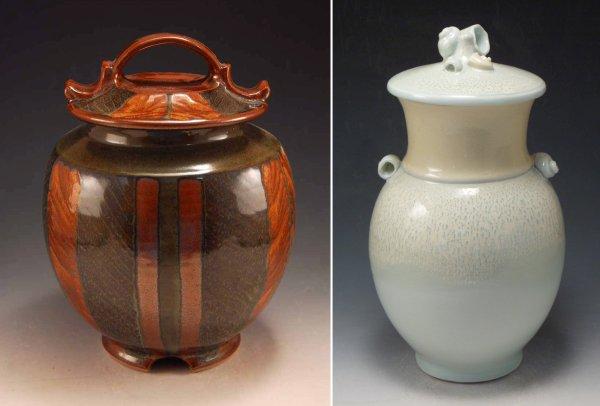 Herringbone Five Shell Jars, Kate Shakeshaft Murray