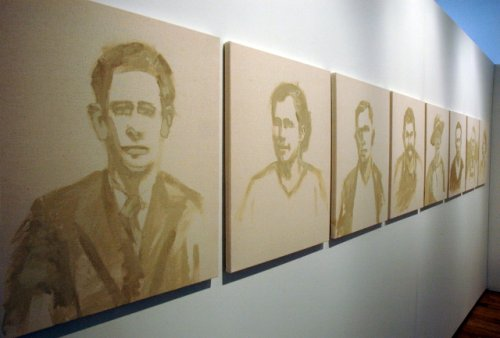 Mill Portraits hanging on the wall