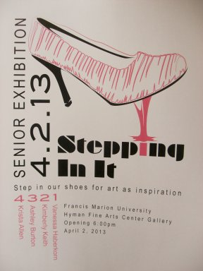 Stepping in it flier or Senior Exhibition