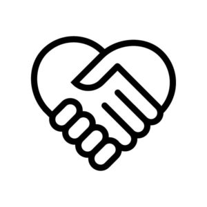 Two Hands Clasping Icon