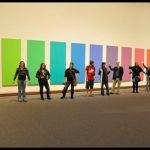 Students standing in front of colors in Metropolitan Museum of Art - NYC
