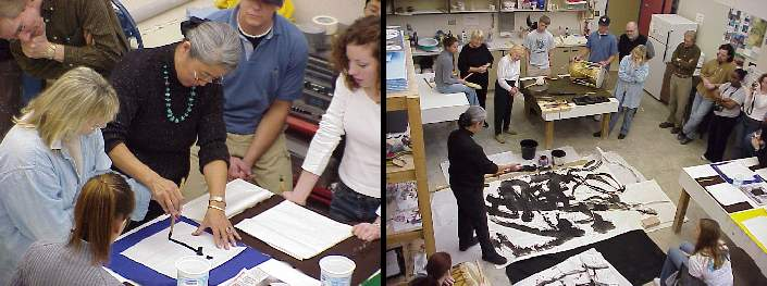 Collage of calligraphy students at FMU