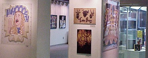 Art Show pieces in the Fine Arts Center