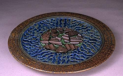 Colorful shard platter