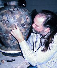 Vince Pitelka creating ceramic art
