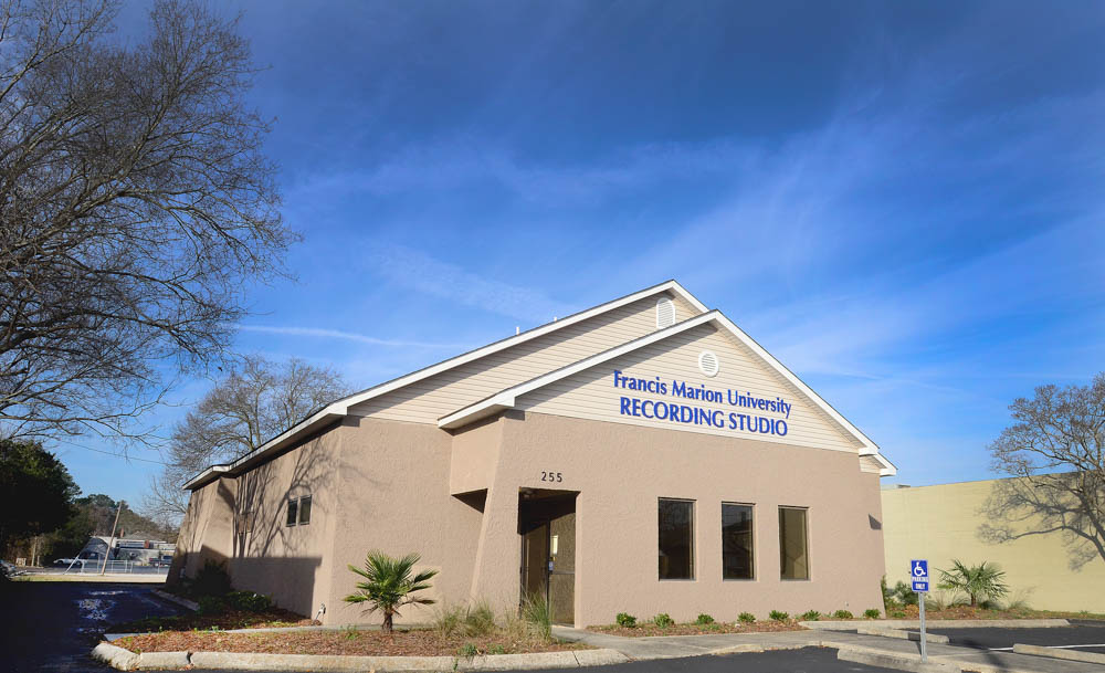 Front of FMU Recording Studio