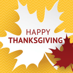 Thanksgiving Observance Begins - No Classes - University Open