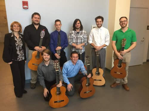Students among the FMU Guitar Studio