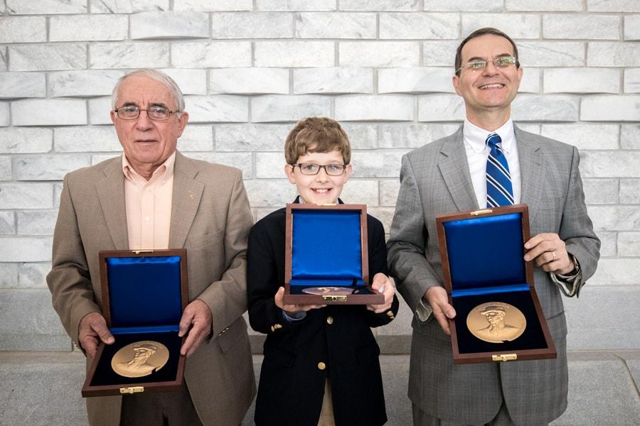 Three Marion Medallions presented