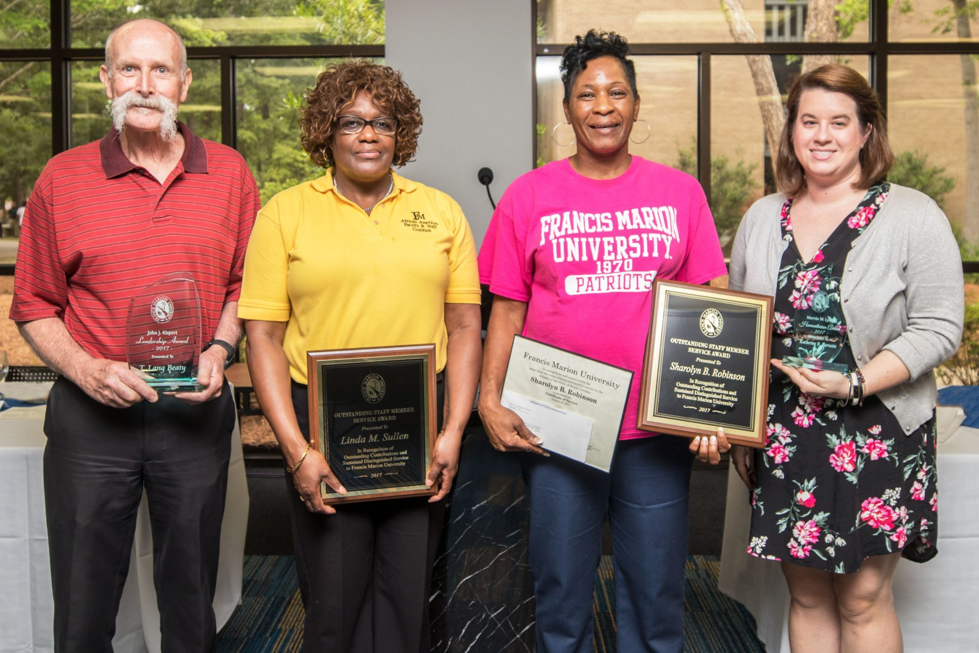 Francis Marion recognizes outstanding staff service