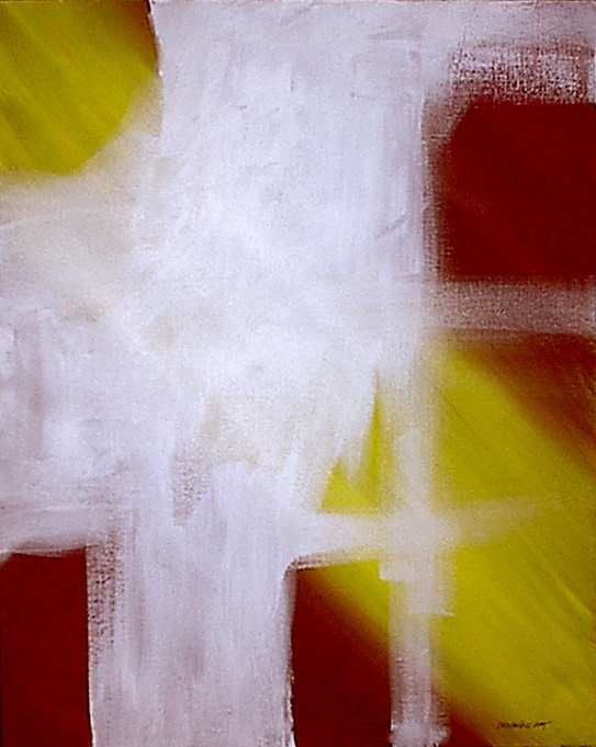 Yellow, Red and White piece of art