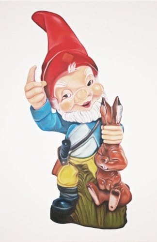"Gnome as Animal Thief, 2012. Acrylic and Oil on Canvas, 72""x48""."