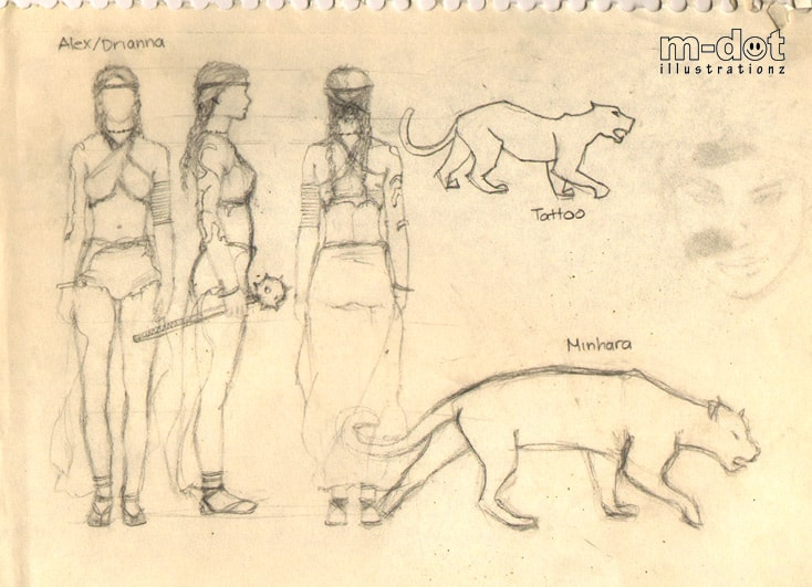 Character Model of woman and lion